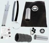 SV2/SV3 Roof Kit, Tile, Fiber Cement, type 1-100 - Black