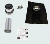 Exhaust kit for roof type 1 – Black