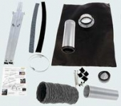 SV2/SV3 Roof Kit, Tile, Fiber Cement, type 1-100 - Black